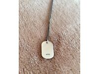 A.P.C. Army Dog Tag Necklace