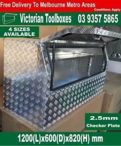 1200x600x820mm half opening toolbox ute tool box heavy duty