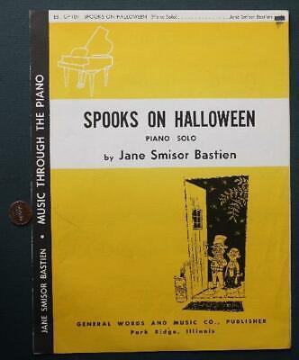 1965 Spooks on Halloween Sheet Music-Park Ridge,Illinois-Trick or Treat - Halloween Park Ridge