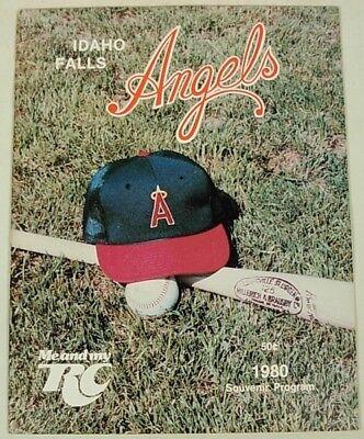 (IDAHO FALLS CALIFORNIA ANGELS 1980 BASEBALL PROGRAM)