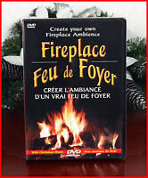 FIREPLACE DVD's - BRAND NEW - Relax with a Fireplace!