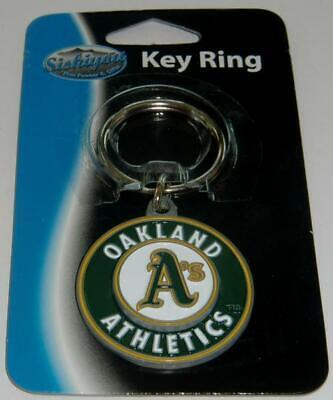 Oakland Athletics A's 3-D Metal Key Chain MLB Licensed Baseball - - Oakland Athletics Metal