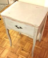 Updated/Distressed Antique Sewing Table
