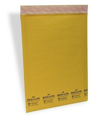 200 2 8.5x12 Kraft Bubble Mailers Padded Envelopes - Ecolite From Theboxery