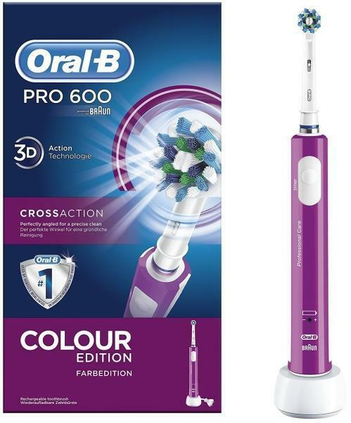 BRAUN ORAL-B PRO 600 3D ELECTRIC TOOTHBRUSH CROSSACTION COLO
