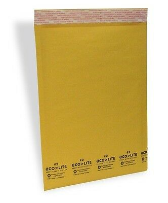100 2 Kraft Bubble Mailers - Made In Usa - Ecolite From Theboxery