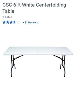 6' and 4' folding tables