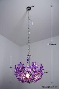 ... -Design-Viola-Lampada-da-soffitto-Lampadario-Moderno-Fiori-NEW-35126