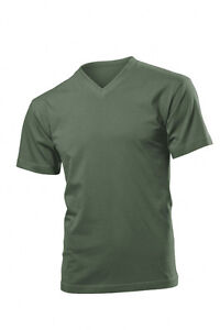 Hanes Mens Cotton Summer Weight Vee V-Neck Tee T-Shirt