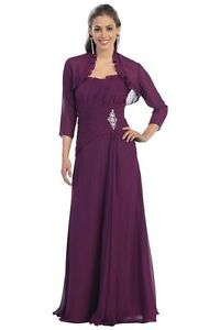 New-plus-size-20-22-dress-for-women-long-magenta-formal-gala-mother-of-bride
