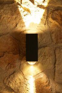 Applique da esterno design 2 luci led lampada da parete for Luci a led esterno