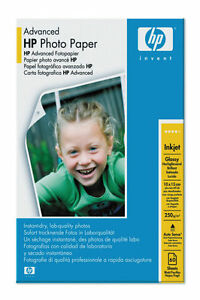 HP Advanced Glossy Photo Paper 6x4 10x15 60 Sheets +Tab