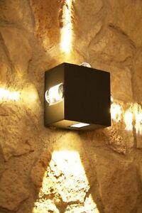 Applique da giardino design led 4 luci lampada da esterno - Luci led esterno giardino ...