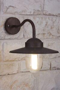 applique ext rieure lampe murale lanterne lampe de jardin couleur rouille 8549. Black Bedroom Furniture Sets. Home Design Ideas