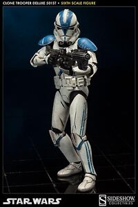 NEW Sideshow Collectibles Star Wars Clone Trooper Deluxe 501st Stirling Stirling Area Preview