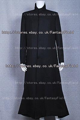 The Matrix Neo Trench Coat Costume black coat Halloween Cosplay convention