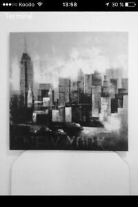 Toile new york 36x36 80$ nego