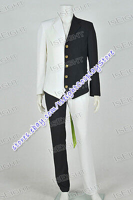 Black And White Cosplay Costume Two Face Men's Suit Whole Set Halloween Party