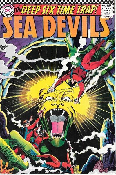Sea Devils Comic Book #32, DC Comics 1966 VERY FINE-