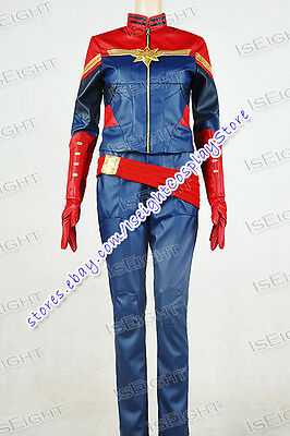 Captain Marvel Cosplay Carol Danvers Costume Beautiful Uniform Comfortable Cool](Easy Marvel Costume)