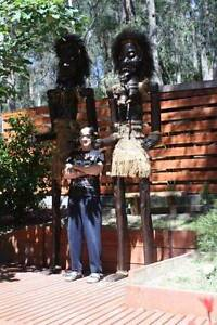 2 X 18 FT TRIBAL WITCH DOCTOR NATIVE STATUES,BUSINESS,SHOP,POOL Warburton Yarra Ranges Preview