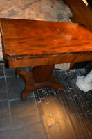 Table 1850 pliante mahogany antique acajou