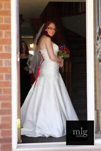 Beautifully beaded wedding gown for sale