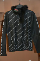 Brand New Beautiful Faux Fur Trimmed Sweater