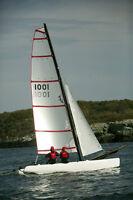 Playcat catamaran, similar to Hobie Wave