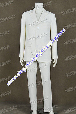 The Great Gatsby 2013 Cosplay Jay Gatsby Costume White Suit Uniform Tailor Made