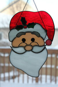 Santa Claus Stained Glass Suncatcher