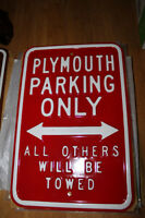Assorted Car Part 2 - Collectable Embossed Steel Street Signs