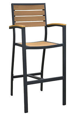New Atlantic Collection Outdoor Bar Stool With Arms