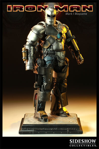 Sideshow Iron Man Mark 1 Exclusive Statue Nib Never Displayed Spiderman Vhtf!!