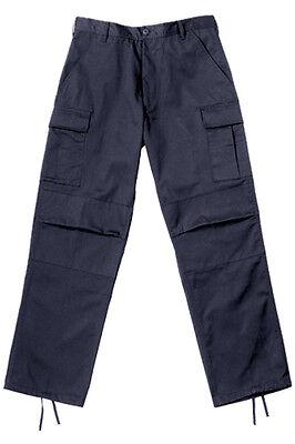 Navy Blue Military Style BDU Cargo Poly/Cotton Fatigue Pants - Navy Bdu Pants