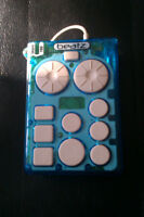 Handheld drum machine for iPod classic and live performance