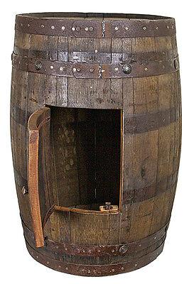 Whiskey Barrel With Side Storage - Mancave - Bar - Sink - Vanity