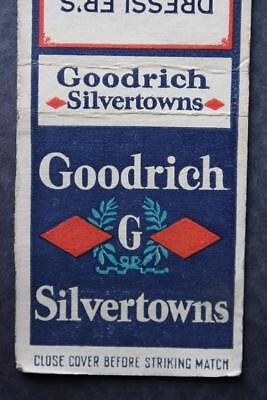 1930-40s Era Rutherford,New Jersey Goodrich Silvertowns Tires matchbook-VINTAGE!