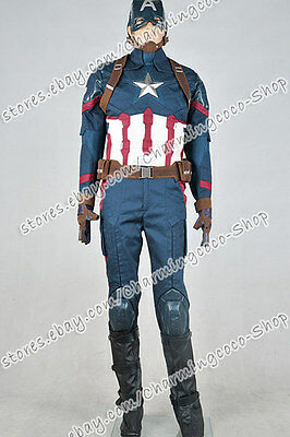 Captain America: Civil War Steve Rogers Cosplay Kostüm Outfits Uniform