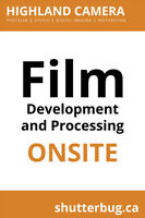 Film Processing and Printing ONSITE!
