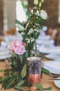 Dip-dyed metallic log wedding candle votives Austinmer Wollongong Area Preview