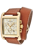 Michael Kors Brown Leather Strap Ladies Watch