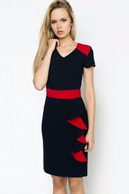 New Frill Side Colour Block Dress size 8/S