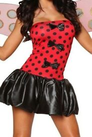 LADYBIRD PUFF BALL DRESS SIZE 8/10 GREAT FOR A FANCY DRESS PARTY OR HEN DO