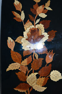 Multi Wood Inlay Picture with Flowers from Persia 10X16 inches Gatineau Ottawa / Gatineau Area image 2