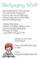 Need a babysitter this summer?