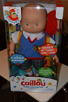 """Brand New Caillou Talk and Learning Doll - 14"""" Tall"""