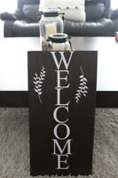 Rusitc Country Wooden Welcome Sign
