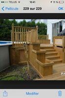 Terrasse deck sur mesure de qualité Rbq:8100-9656-21