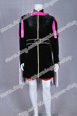 Sleeping Beauty Prince Phillip Cosplay Costume Black And Pink Cool Dress  - Sleeping Beauty Prince Costume